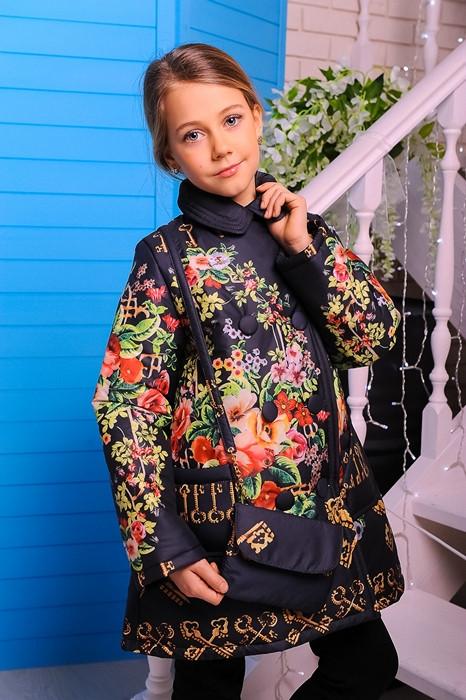 Куртка-пальто для девочки Дольче. Детская одежда.