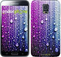 "Чехол на Samsung Galaxy S5 Duos SM G900FD Капли воды ""3351c-62"""