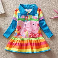 "Платье детское  Пеппа Свинка ""Ice cream""/ хлопок / 92 см/ 98 см / 1,5-2 года; 2-3 года"