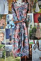 Акварельное платье H&M прямого кроя