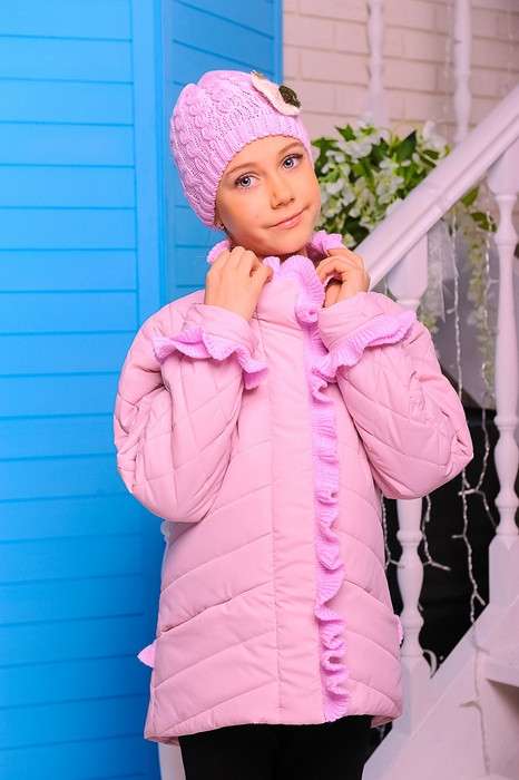 Куртка с шапкой для девочки Одри. Детская одежда.