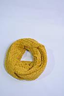 Снуд женский,мужской вязаный желтый