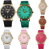 Cтильные модные женские часы Geneva Classic, 8 цветов