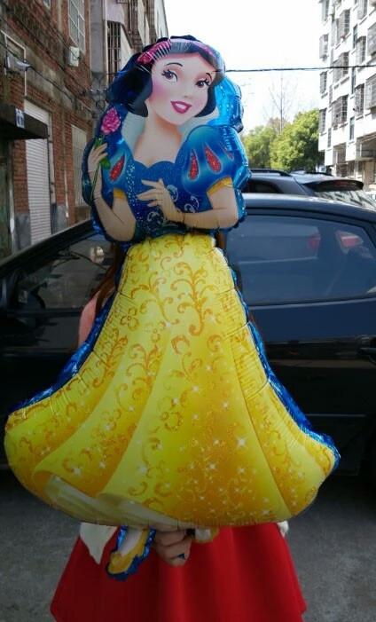 Великий повітряний кулька з фольги принцеса білосніжка 90 див.