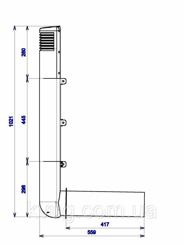ross цокольный дефлектор 125/135 вид схема