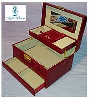 Шкатулки для ювелирных украшений и бижутерии №8909 Red красная