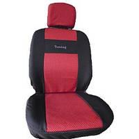 Чехлы модельные сидения ВАЗ 2109 черно-красные Tuning NEW