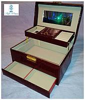 Шкатулки для ювелирных украшений и бижутерии №8909 бордо