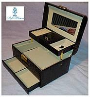 Шкатулки для ювелирных украшений и бижутерии №8909 черный шоколад