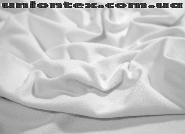 Трикотаж замша белый, фото 2
