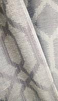 """Портьерная ткань """"Модерн"""" (искус. Лен) - серый 2"""