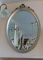 Классическое зеркало в деревянном багете серебро Arte Arredo Италия