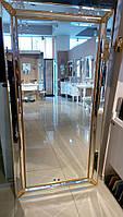 Зеркало в граненом багете золото Arte Arredo Италия