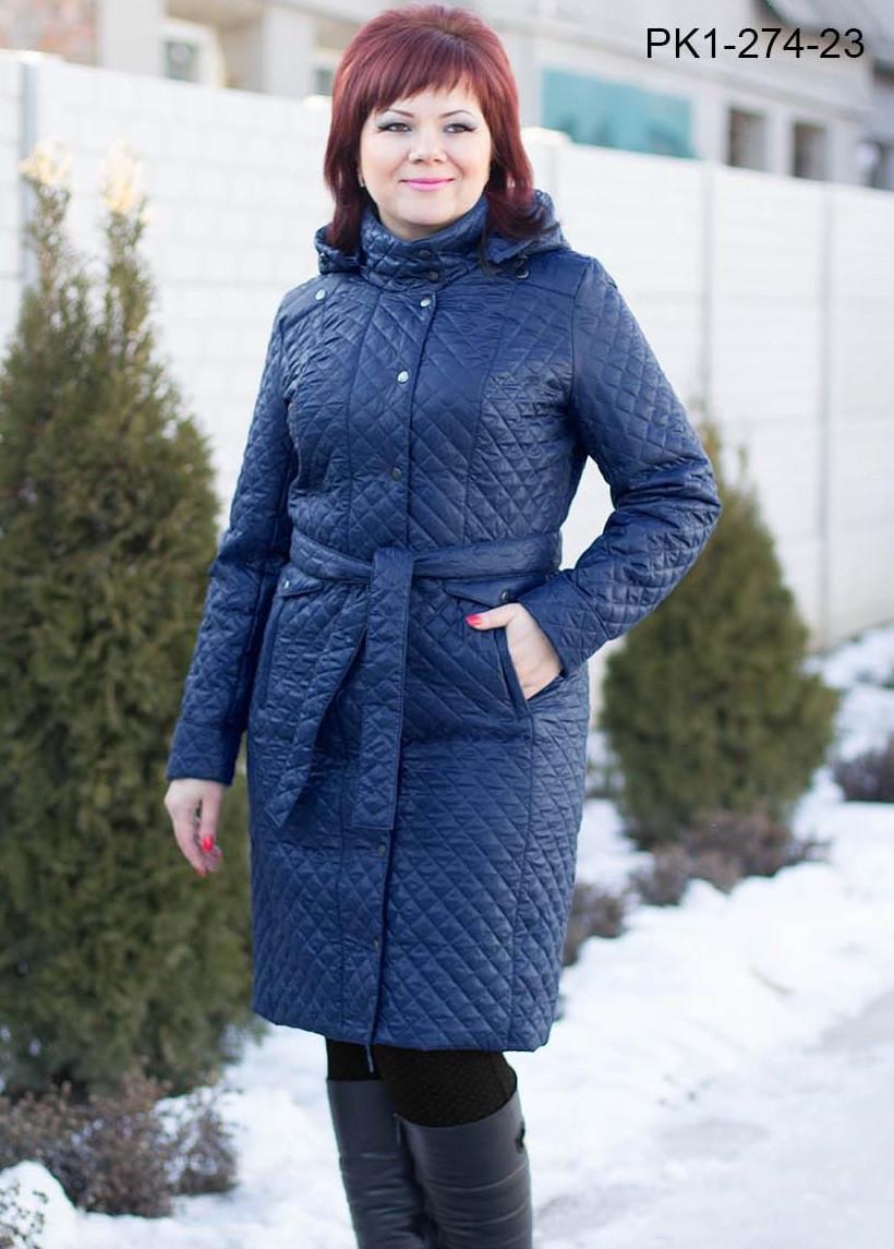 Пальто удлиненное с капюшоном.