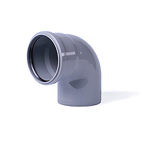 Отвод 90 Grad (колено) 50x50 канализационный  Интерпласт