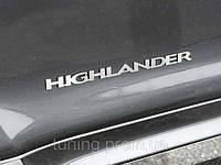 Шильда надпись боковая для Toyota Highlander 2007-2016