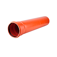 Труба 1000мм D110x3,2 с раструбом KGEM–SN 4 Ostendorf  KG(наружная)
