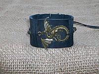 Мужской кожаный браслет ДРАКОН СМАУГ (Игры престолов), ручная работа