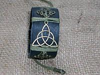 Женский кожаный браслет на руку ТРИСКЕЛЬ (все женщины ведьмы), ручная работа