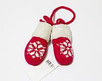 Детские теплые варежки-царапки для новорожденных 0-3 мес р.56/62
