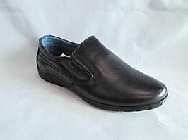 Детские туфли 31-36 р., на плоской подошве без шнурков