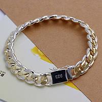 Браслет мужской серебро 925