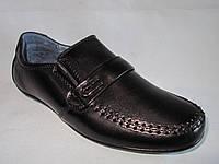 Детские туфли оптом 31-36 р., черные с ремешком