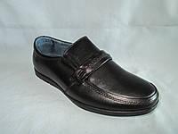 Детские туфли оптом 31-36 р., на плоской подошве с декоративным ремешком