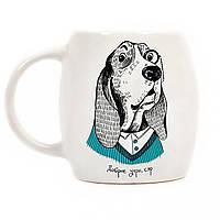 Чашка Собака дворецкий керамика 350 мл в подарочной коробке