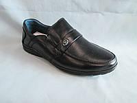 Детские туфли  оптом 31-36 р., черные спортивного фасона, с ремешком