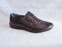 Детские туфли на мальчика 31-36 р., черные спортивные