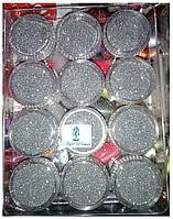 Глитер, песок, блестки, присыпка для декора ногтей, серебро в баночке