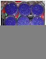 Глитер, песок, блестки, присыпка для декора ногтей, фиолетовый в баночке