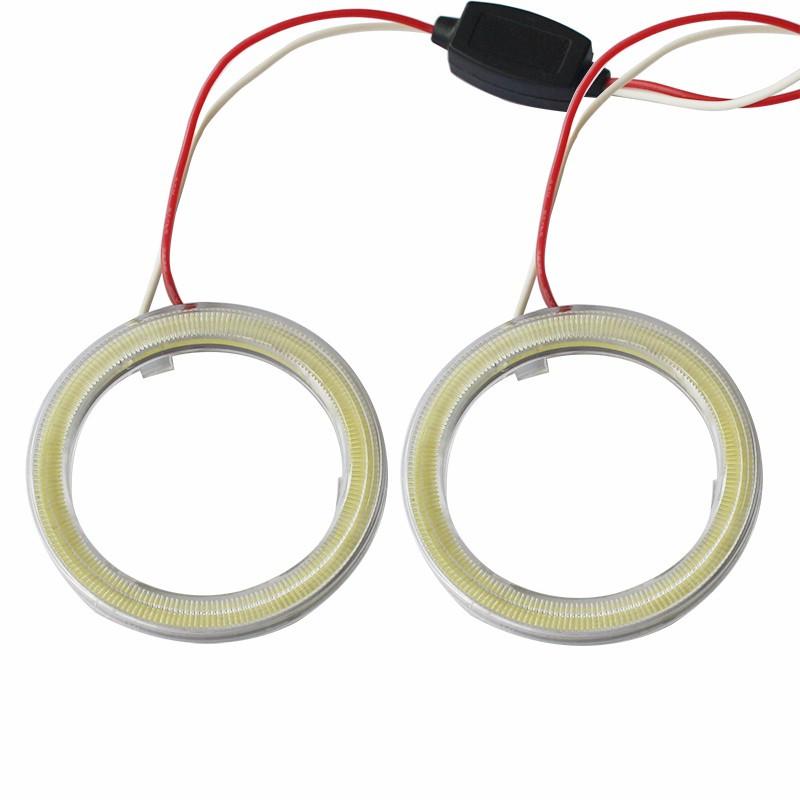 90 мм led-кольца в фару (ангельские глазки) суперяркие 2шт.