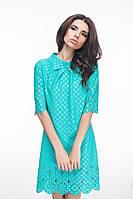 Платье Свободное с перфорацией мятное
