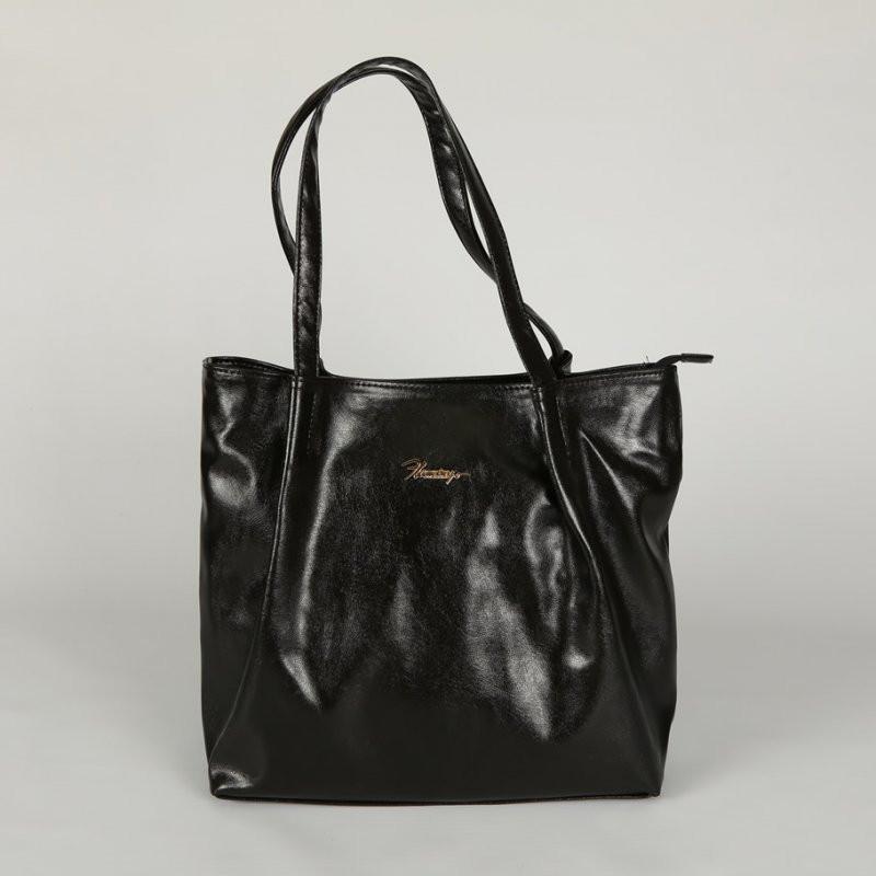 5eb5a6e77ad4 Мягкая большая сумка женская шоппер глянец