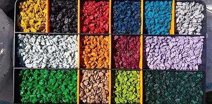 Щебінь декоративний кольоровий