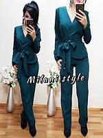 Костюм женский пиджак с поясом и брюки разные цвета 1Dmil239