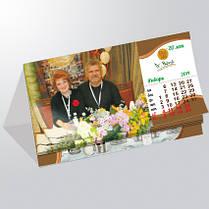 Изготовление и печать настольных календарей домиком (перекидные), фото 2