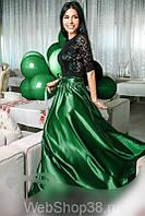 Ткань атлас Королевский зеленый,атлас изумруд,атлас стрейч,купить ткань атлас оптом Украина,АРТ ТЕКСТИЛЬ