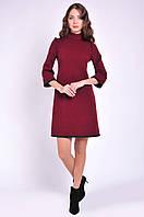 Женское платье бордового цвета трикотажное