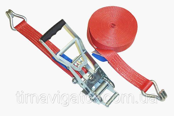 Ремень стяжки груза 10м 5т/5000DAN (большая трещетка)