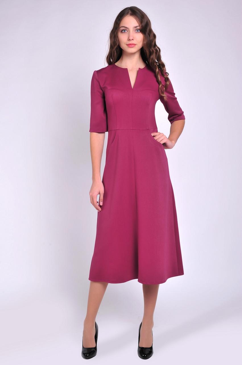 96f9303ce43 Классическое офисное платье с расклешенной юбкой - Интернет-магазин женской  одежды