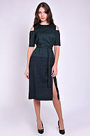 Красивое офисное платье женское длинна миди
