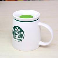 Объемная керамическая чашка с крышкой STARBUCKS, фото 1