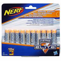 Комплект декорированных стрел для бластеров Nerf Elite 10 шт B6458/B5571. Оригинал Hasbro