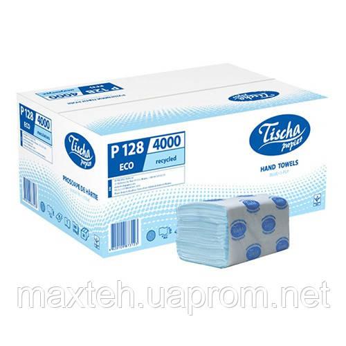 Полотенца бумажные Эко 200 листов, 1/ 40 г/м², голубой