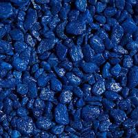 Декоративный щебень цветной синий