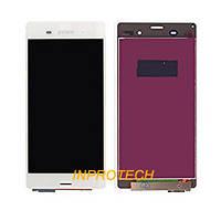 Дисплей (LCD) Sony Xperia Z3 D6653 L55 с сенсором White Original
