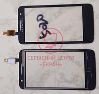 Alcatel 5020d One Touch M Pop тачскрін сенсор чорний якісний